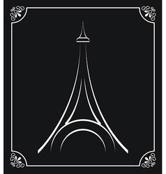 tower eiffel design vector image