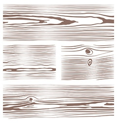 Various monochrome wood texture collection vector