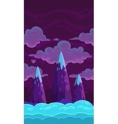 Vertical cartoon night background vector