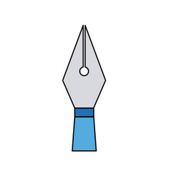 Writing pen head ink classic icon vector