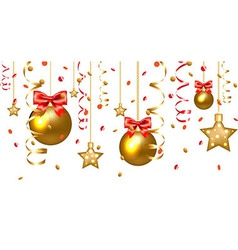 Xmas Stars And Christmas Balls vector image vector image