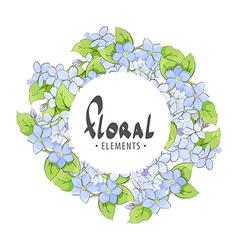 Floral frame of summer flowers vector
