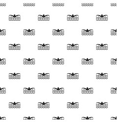butterfly swimmer pattern vector image