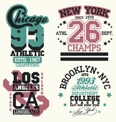 new york t-shirt graphics vector image