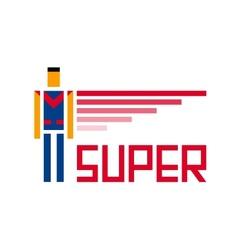 Super symbol vector image