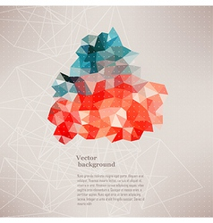 Triangle pattern background triangle background vector