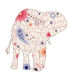 vintage elephant vector image