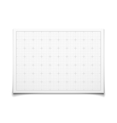 White isolated square grid with shadow vector