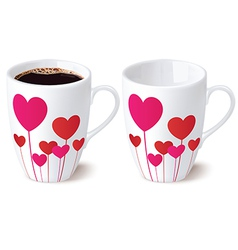 Cup heart vector image