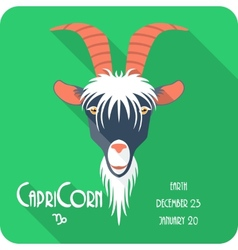 Zodiac sign capricorn icon flat design vector