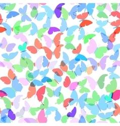 Colorful butterflies set summer seamless pattern vector image