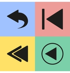 Backward icons vector