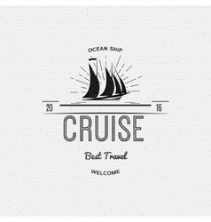 Cruise best travel insignia and labels for any vector