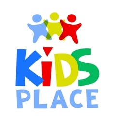 Kids place logo template vector