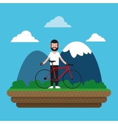 Ride a bike design vector