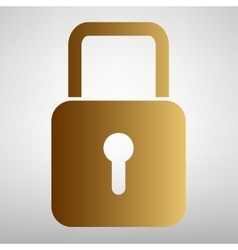 Lock sign flat style icon vector