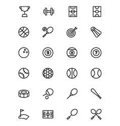 Sports outline icons 1 vector