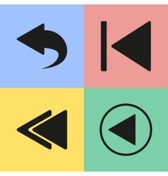 Backward icons vector