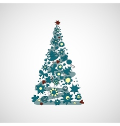 Beautiful Christmas tree on a light background vector image vector image
