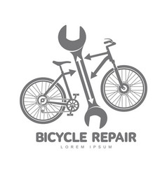 bicycle repair workshop logo template vector image vector image