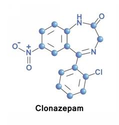 Clonazepam tranquilizer benzodiazepine vector