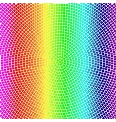colorful radial background with rainbow mosaic vector image