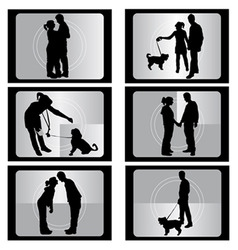 couple with film vector image