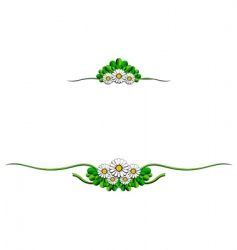 daisy cartoon ornaments vector image vector image