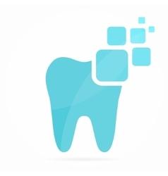 digital dental logo or icon vector image vector image