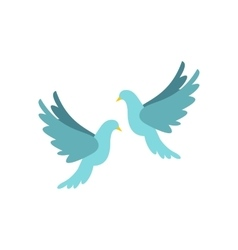 Doves icon flat style vector image vector image