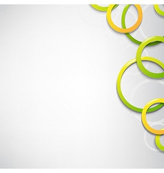 Dynamic background with circles vector