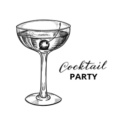 Hand drawn cocktail vector