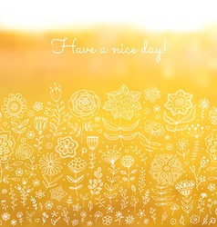 Have a nice day background vector