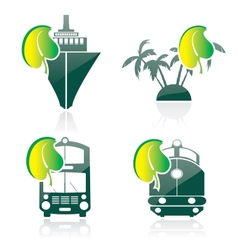 Icon on a theme ecology vector image