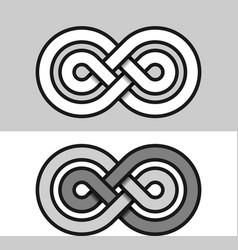 Infinity eternity paper symbol vector