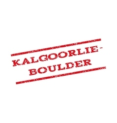 Kalgoorlie-boulder watermark stamp vector