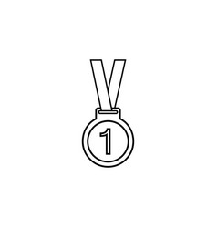 Medal line icon sport and champion element vector