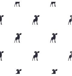 moose pattern wild animal symbols seamless vector image