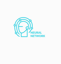neural networks conceptual sign and logo the vector image