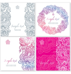 template with floral ornament vector image vector image