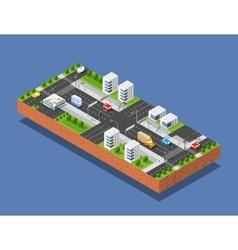 urban transport street vector image vector image