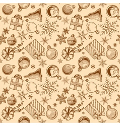 Vintage christmas background seamless tiling vector