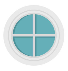 white round window icon isolated vector image vector image