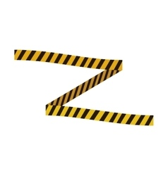 Barrier yellow black striped construction icon vector
