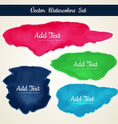 Watercolor stain collection vector