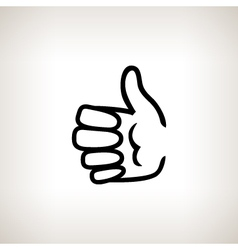 Hand giving thumbs up vector