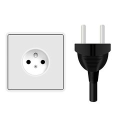 Power plug and socket vector