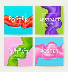 Colorful abstract poster set vector