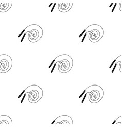 Jump rope icon in black style isolated on white vector