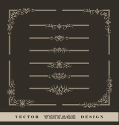 Vintage calligraphic border vector